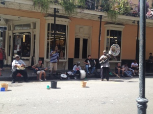 Live music in the French Quarter