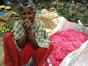 Flower Market, Bangalore, India